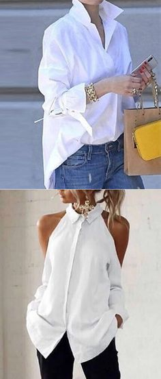 Women Spring White Blouse Tops - Women Spring White Blouse Tops Source by birgitschraven - Mode Outfits, Stylish Outfits, Fashion Outfits, Black Women Fashion, Look Fashion, Womens Fashion, Fashion Art, Modelos Fashion, Fashion 2020