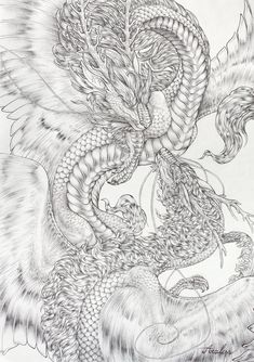 Second ballpoint commission forGaiaWolfessof her imperial dragon pair. Sorry for being that late, I know you've waited a long time for this. It wasn't possible for me to get it done ear...