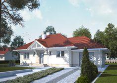 LK&1179 projekt domu parterowego z poddaszem użytkowym, o powierzchni użytkowej 75,38m2 spełniajacy warunki programu Mieszkanie dla Młodych