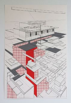 One more architectural drawing by Ben Kafton #geometry