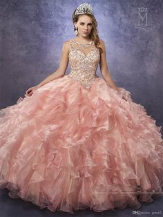 Cheap Quinceanera Dresses 2017 Mary's Princess with Illusion Neck And Cascading Ruffles Organza Skirt Beautiful Peach Vestido 15 Anos Vestidos De 15 Anos Quinceanera Dresses 2017 2 Piece Quinceanera Dresses Online with $254.98/Piece on Grace2's Store | DHgate.com