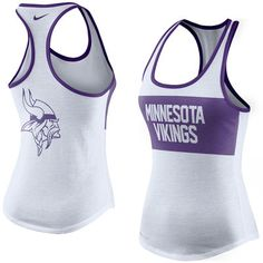 f47c1ca7e Nike Minnesota Vikings Women s White Performance Tank Top White Nikes
