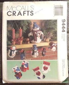 9444 McCall's Crafts /// Frosty Friends /// 1998 #McCalls