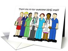Thank you to NHS Medical Staff, Cartoon Group Doctors and Nurses. Personalize any greeting card for no additional cost! Cards are shipped the Next Business Day. Military Cards, Cool Cards, Nurses, Doctors, Thank You Cards, Irish, Celebration, Greeting Cards, Family Guy