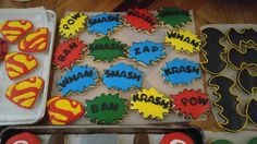 Super Hero cookies!