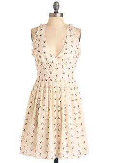 """""""Dot-ful Gesture"""" Dress; perfect for wandering the farmers' market!"""