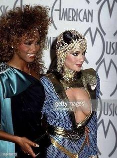 WHITNEY HOUSTON AND APPOLONIA KOTERO Apollonia Kotero, Whitney Houston, Captain Hat, Sexy, Beauty, Fashion, Moda, Fashion Styles, Beauty Illustration