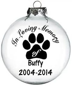 Personalized In memory of pet Christmas ornament by KikisKornerSC Christmas Vinyl, Painted Christmas Ornaments, Personalized Christmas Ornaments, Christmas Dog, How To Make Ornaments, Christmas Balls, Christmas Projects, Christmas Decorations, Christmas Stockings