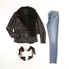 PAIGE Denim | Fall Style | Rooney Jacket in Black, Karyn Tank in Black + Verdugo Ankle in Keaton