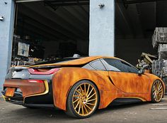 rusted-out BMW i8 is ready for the post-apocalyptic era