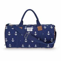 Anchor Nautical Duffle Bag- would be such a cute beach bag!
