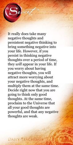 The Secret ~ Law of Attraction I need to remind myself of this everyday