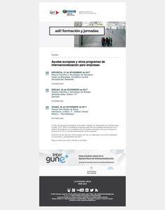135 ADI! Jornadas (23/11/2017): Ayudas europeas y otros programas de internacionalización para empresas