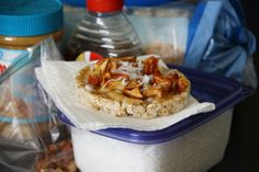 rice cake covered in granola maybe