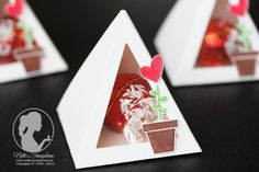 inspiration for table favours pyramid (see template maker website (in my box board) to create own FREE pyramid SVG)