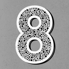 Number 8 by Doug Penick   via thetypefight.com