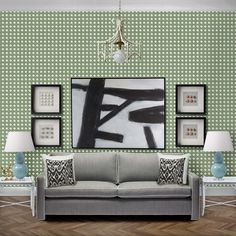 Nevis Wallpaper in Moss - Sample: 29.7cm × 21cm (A4)