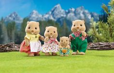 """Calico Critters Woodbrook Beaver Family - International Playthings - Toys """"R"""" Us Kids Store, Toy Store, Calico Critters Families, Doll Storage, Baby Pool, Magazines For Kids, Sylvanian Families, Creative Kids, Toys For Girls"""