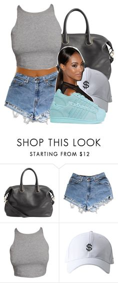 """Untitled #457"" by princess-miyah ❤ liked on Polyvore featuring H&M, Levi's and adidas Originals"