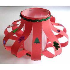 lampions de Noël en papier rouge