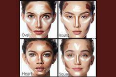 Come Fare il Contouring? Per Ogni Forma del Viso - WOMEN Italia Beauty Secrets, Halloween Face Makeup, How To Make, Make Up Contouring, Women, Shape, Italia, Beginner Makeup, Women's