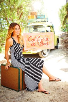 Cali bound in a traffic-stopping #maxi. #LCLaurenConrad #Kohls