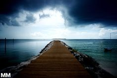 A storm approaches our island in the Bahamas