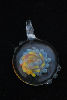 twisted implosion pendant  Buy or custom order my work at www.etsy.com/shop/wildhareflamework