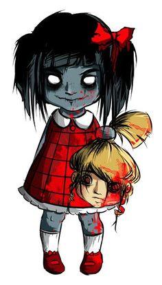 A little zombie girl by Yersey on DeviantArt - A little zombie girl by Yersey.deviantart… on - Scary Drawings, Dark Art Drawings, Cartoon Drawings, Cute Drawings, Zombie Drawings, Art Zombie, Zombie Cartoon, Dope Cartoon Art, Little Girl Drawing