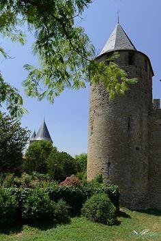 "terrescathares: "" Tour du château comtal Carcassonne, le 26 juillet 2013 #TerresCathares ↓ http://www.cathares.org?td=Carcassonne-chateau-comtal """