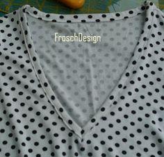 FroschDesign: Halsausschnittvariationen an Shirts: Teil 2 - der einfache V-Ausschnitt mit Schrägstreifen