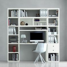 Bookshelf via home24.de , white laquered , #office