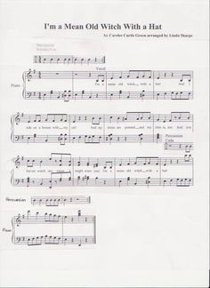 I'm a Mean Old Witch with a Hat Sheet Music