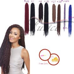 Aliexpress.com : Buy Havana Mambo Twist Crochet Pretwist Hair Havana Twist Crochet Braids Afro Extension hair for senegalese twist Beauty from Reliable hair coloring color wheel suppliers on crochet braiding hair extension Store Havana Braids, Havana Mambo Twist Crochet, Braid In Hair Extensions, Hair Coloring, Crochet Braids, Free Gifts, Braided Hairstyles, Afro, Purple