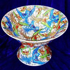 "228 Beğenme, 9 Yorum - Instagram'da saim kolhan art gallery (@saim_kolhan_art_gallery): ""SAİM KOLHAN 45 CM AYAKLI KASE #drawing #and #painting #by #saimkolhanartgallery #handmade#pottery…"" Handmade Pottery, Serving Bowls, Decorative Bowls, Art Gallery, Drawings, Tableware, Painting, Home Decor, Handmade Ceramic"