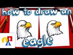 How to draw a bald eagle for kids how to draw a realistic bald eagle head Art For Kids Hub, Art Hub, Art Lessons For Kids, Bald Eagle, Eagle Head, Eagle Drawing, Eagle Painting, Fall Art Projects, Eagle Art