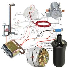 12 volt starter wiring diagram perkins diesle 1000 images about 6 volt to 12 volt conversion kits on