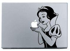 Snow White MacBook Decal macbook decal macbook, $6.95