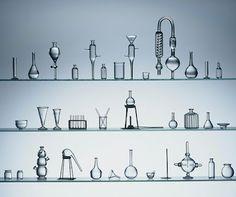 Mini 1:12 chemistry glassware by Ray Storey Lighting