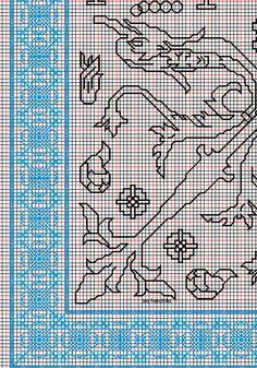"""working drawing 2 for Assisi embroidery design """"sea square"""""""
