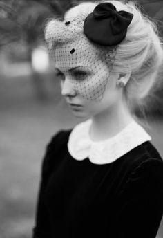 black and white gothic fashion