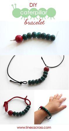 Caterpillar bracelet - adjustable for small hands
