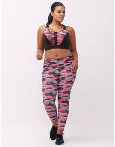bb50bf9bc4 Livi Active Combat Cancer Pink Black Camo Wicking Active Legging 26 28   LaneBryant Trendy