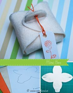 Eine schnelle und einfache Anleitung und Vorlage, um eine schöne kleine Geschenksverpackung aus Filz zu machen. Die Idee dazu habe ich aus dem Brigitte Buch Geschenkideen – Grüßen, Schenken & Verpacken. Die Vorlage für die Mini Box findet ihr hier...