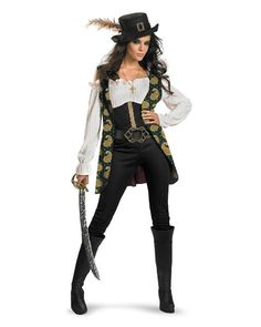 Womens Deluxe Pirates Of The Caribbean Angelica Costume