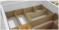 Tu Organizas.: Faça você mesmo, divisórias de gavetas                                                                                                                                                      Mais