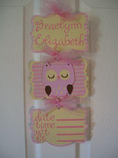 Baby Girl Owl Banner Girl Owl Hospital Door by Baby Girl Owl, Baby Owls, Baby Shower Favors, Baby Shower Invitations, Owl Banner, Owl Shower, Gender Party, Baby Time, Baby Room Decor