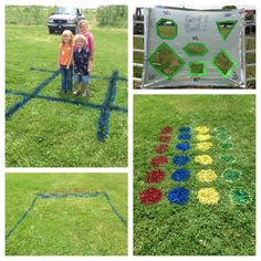 All easy/simple DIY. Outdoor Yard Games, Outdoor Parties, Outdoor Fun, Summer Games, Summer Fun, Simple Diy, Easy Diy, Field Day Games, Minute To Win It