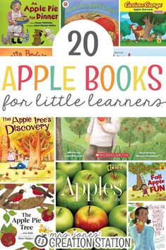 Fall brings many changes including the weather and the leaves on our trees. Apples are also a big part of fall! Grab these fun apple themed books now! 20 Apple Books for Little Learners - Mrs. Apple Activities, Literacy Activities, Homeschooling Resources, Classroom Resources, Autumn Activities, Toddler Activities, Teaching Resources, Teaching Ideas, Apple Unit
