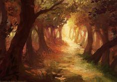 Enchanted Path by JanainaArt